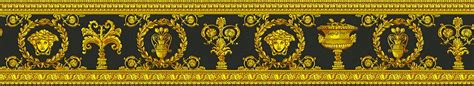 Disney Home Decorations Wallpaper Border Versace Home Medusa Black Gold 34305 1