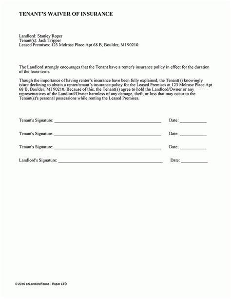 insurance waiver form template insurance waiver form template best business template
