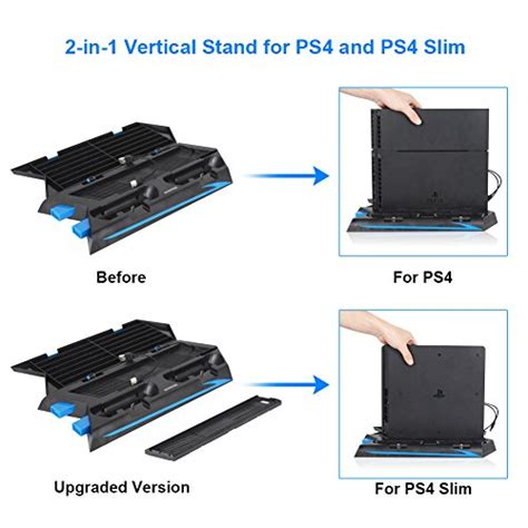 Charging Stand Cooling Fan Ps4 Slim 4 In 1 kootek vertical stand for ps4 slim regular playstation 4 import it all