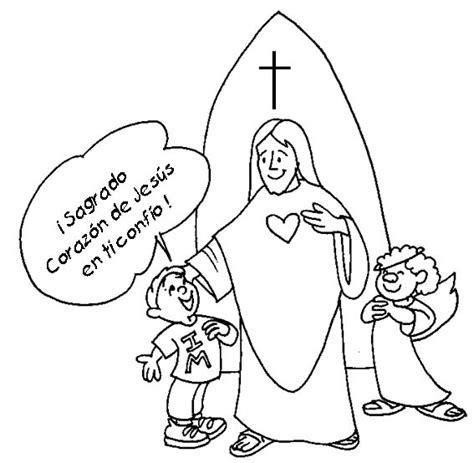 imagenes sagrado corazon de jesus para colorear dibujos de im 225 genes religiosas para pintar colorear im 225 genes