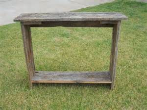 barn wood table barn wood sofa table rustic table