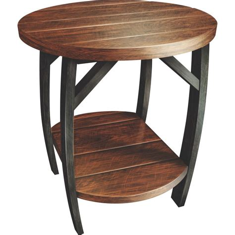 Barrel End Tables barrel end table amish crafted furniture