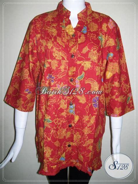 Kemeja Wanita Motif Bunga 128 baju batik ukuran besar batik motif bunga batik warna