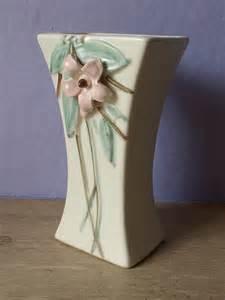 vintage 1940 s mccoy pottery vase dogwood blossom by
