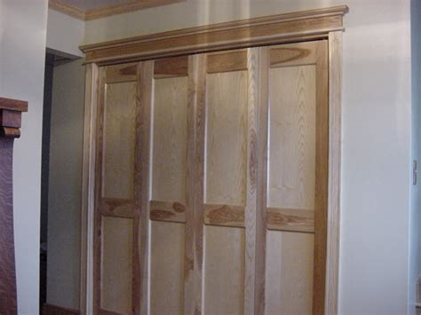 Custom Made Bi Fold Closet Doors Custom Bifold Doors Made Of Ash Made In The Peninsula Of Michigan In The Town Of Engadine