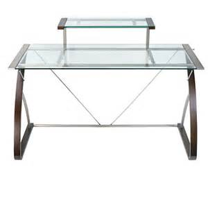 realspace merido desk espressosilver by office depot - Office Max Glass Desk