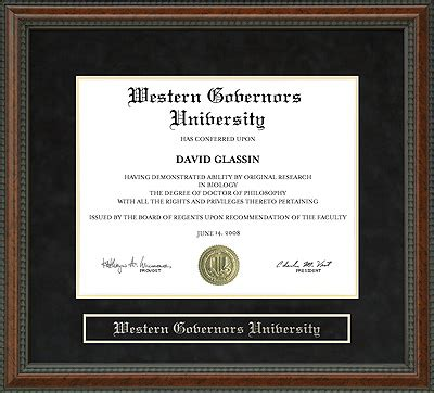 Can You Finish The Wgu Mba Capstone In 2 Weeks by Western Governors Wgu Diploma Frame