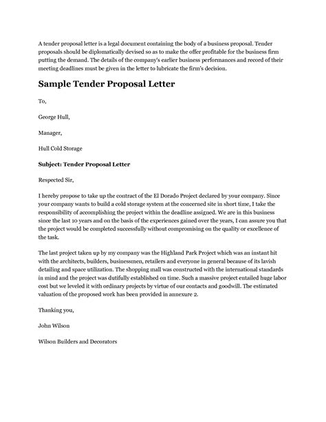tender cover letter sample invitation page 10 of 49 version 1 issue