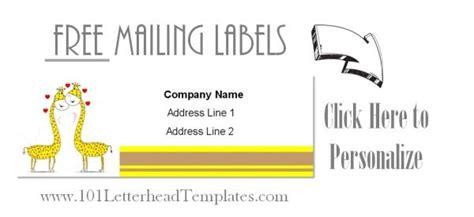 Print Free Mailing Labels