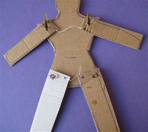 How To Make A Paper Puppet - how to make a jumping puppet from cardboard and string