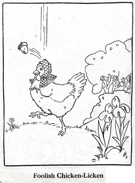 chicken licken coloring page 17 best images about chicken licken on pinterest crafts