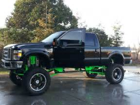 Cool Ford Trucks Hekka Cool Black And Green Ford Truck With A Hekka Big