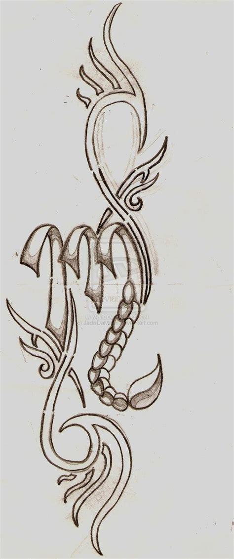 zodiac symbol and tribal scorpion scorpio sign by jadedamaori the scorpion