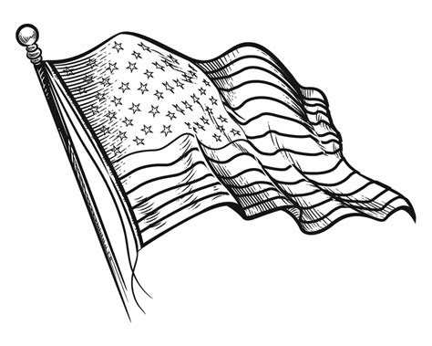 American Flag Coloring Pages Best Coloring Pages For Kids Free Printable American Flag Coloring Page