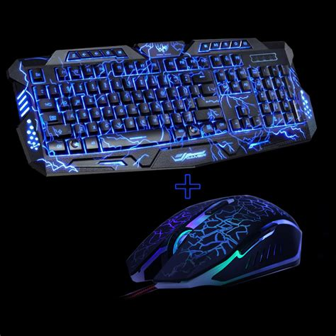 Keyboard Gaming 200 Ribuan m200 purple blue led breathing backlight pro gaming