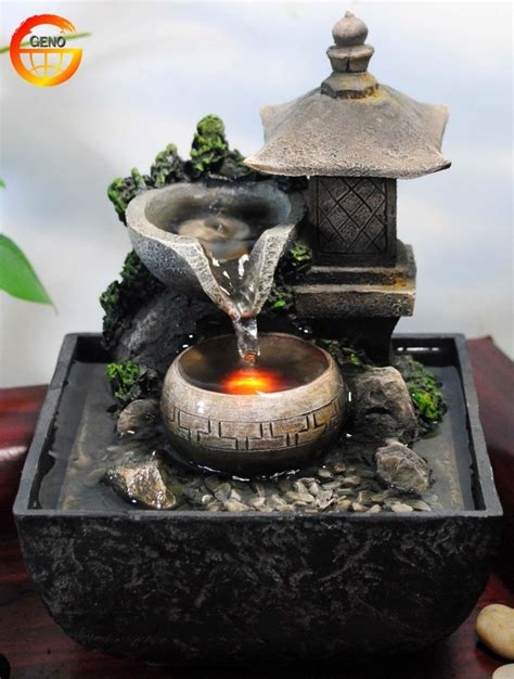 tabletop water fountain indoor zen relaxation waterfall