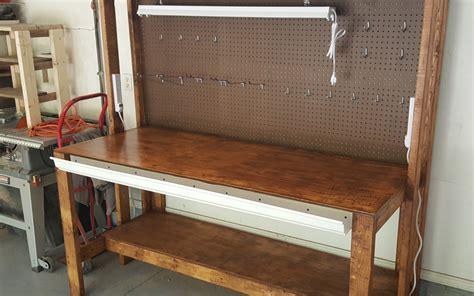 home workbench plans diy garage workbench plans pratt family blog