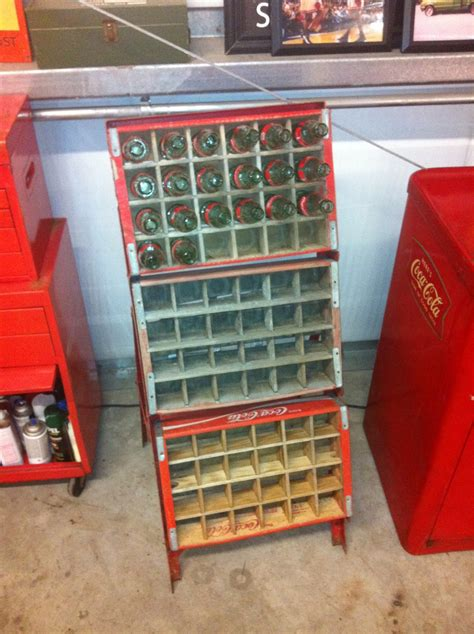 phillips 66 dated 1956 coca cola bottle rack dupont