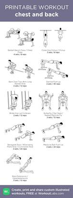 the 25 best chest and back workout ideas on