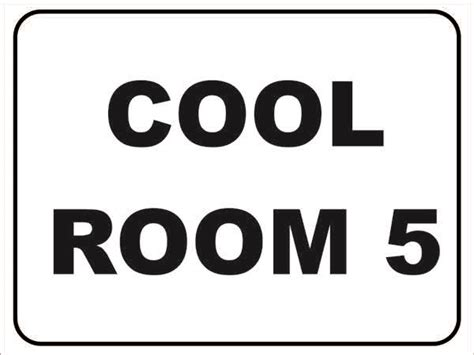 Cool Room 5 Discount Safety Signs New Zealand