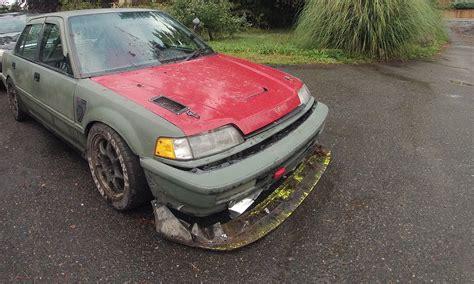 ff sedan crash ff drift failed crx4dr 89 honda civic sedan