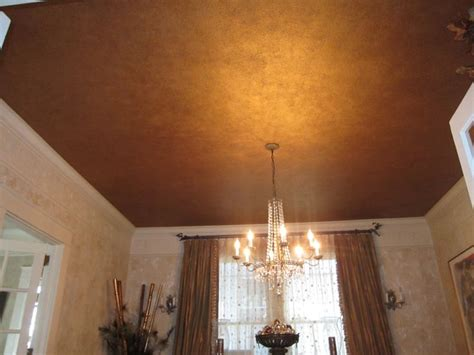 fool s copper ceiling with mica flakes powders www laurengaines designs in paint