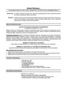 Engineering Student Resume Exles by Free Engineering Student Resume Exle