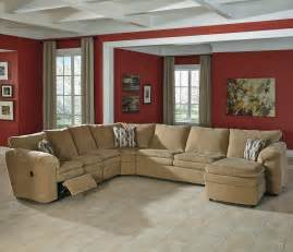 sectional with reclining chaise casual contemporary 5 reclining sectional with right