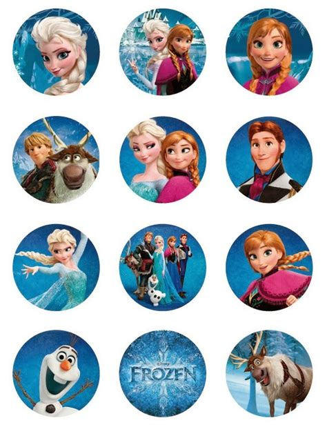printable stickers frozen frozen free printable toppers oh my fiesta in english
