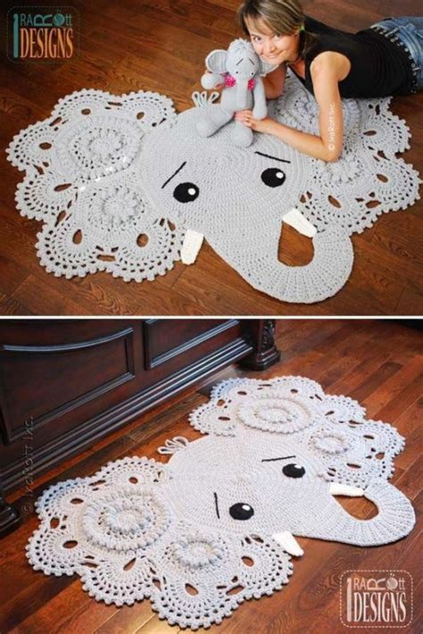 Crochet Elephant Rug by Crochet Animal Rugs Beautiful Patterns The Whoot