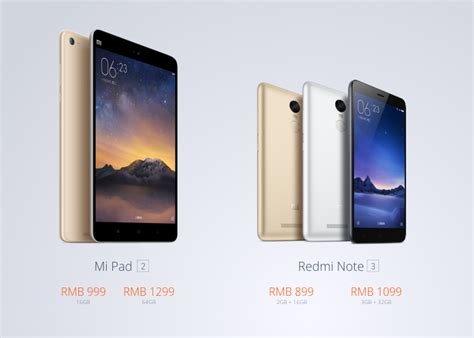 Tablet Xiaomi Redmi xiaomi launches redmi note 3 and mi pad 2 tablet in china