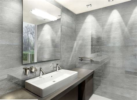 silver bathroom bathroom interior design with porcelain surfaces of