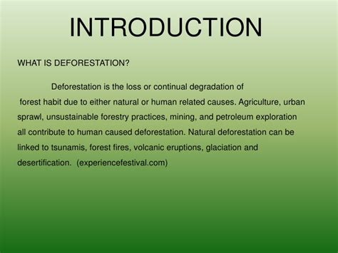 Plants Of The Tropical Rainforest - deforestation power point