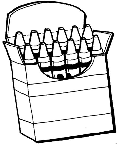 crayon coloring pages crayons coloring page for revev preschool coloring