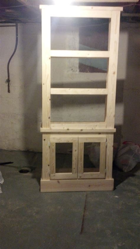 Ana White   Scaled down Shanty Cabinet   DIY Projects