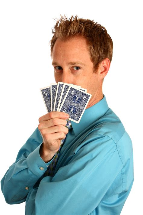 playing cards man  stock photo  young businessman