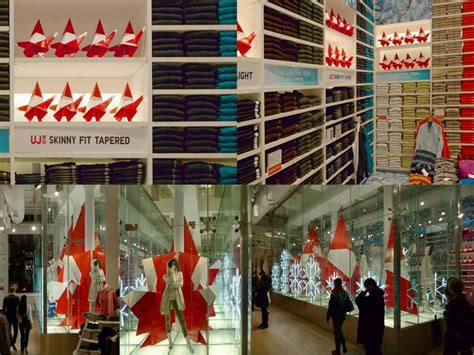 Origami Store Nyc - origami santas for uniqlo installation for uniqlo