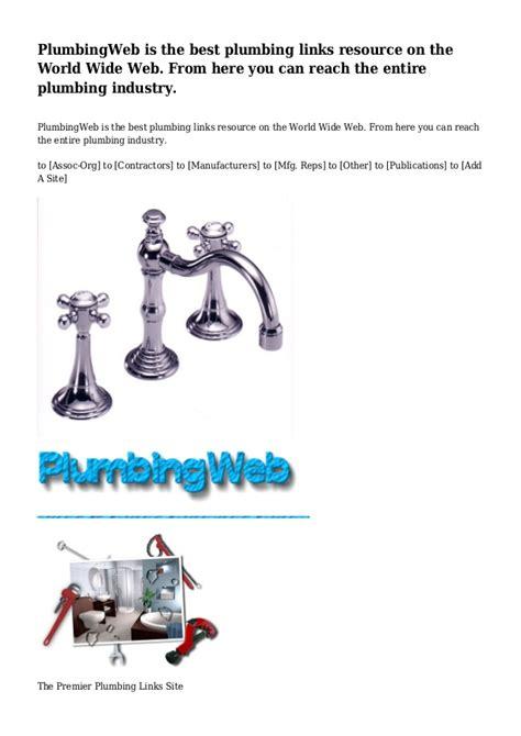 World Wide Plumbing by Plumbingweb Is The Best Plumbing Links Resource On The