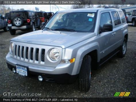 silver jeep patriot interior bright silver metallic 2011 jeep patriot sport
