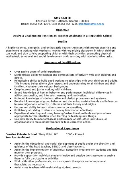 best assistant educator resume example livecareer