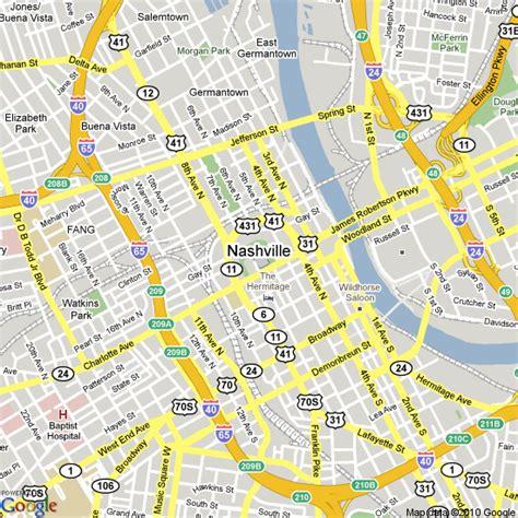 map of nashville map of nashville tennessee united states hotels accommodation