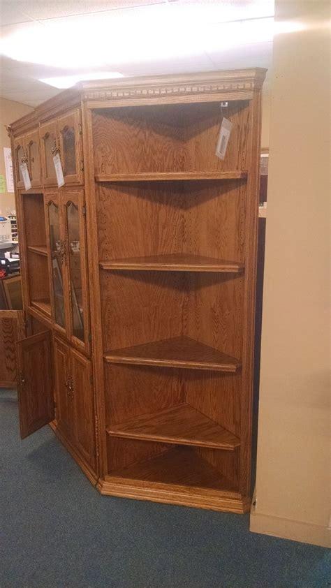 Oak Corner Bookcase Oak Corner Bookcase Delmarva Furniture Consignment