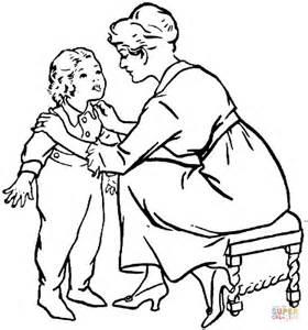 kid talking coloring page coloriage m 232 re qui parle 224 enfant coloriages 224 imprimer gratuits