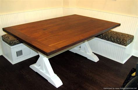 built in dining table and bench built in bench farmhouse dining table built with green