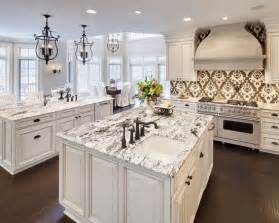 White Kitchen Cabinets With Granite Countertops Delicatus White Granite Floors W O The Backsplash Monarch Oaks