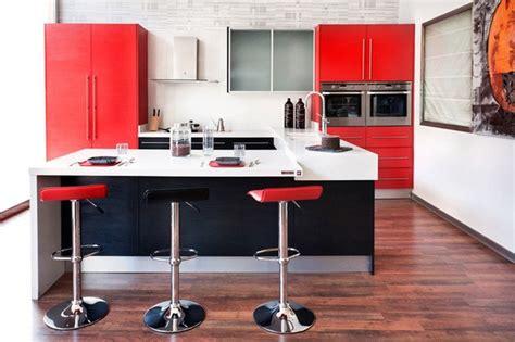 cocinas blancas y rojas m 225 s de 25 fotos con ideas de cocinas rojas espaciohogar