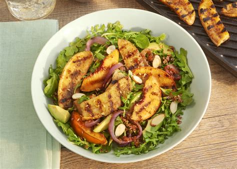 grilled bananas nuts recipe bbq grilled banana and salad the cook monday
