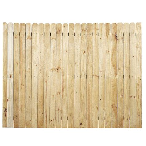 6 ft x 8 ft pressure treated pine ear stockade fence