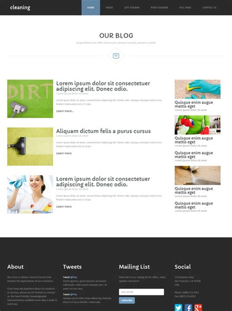 Cleaning Products Web Template Cleaning Website Templates Dreamtemplate Products Website Templates
