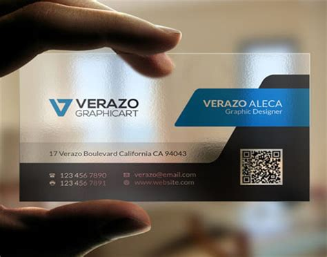 Clear Business Card Template by Transparent Business Cards Template Www Pixshark